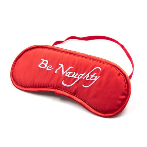 Red Erotic Satin Ribbon Eye Mask
