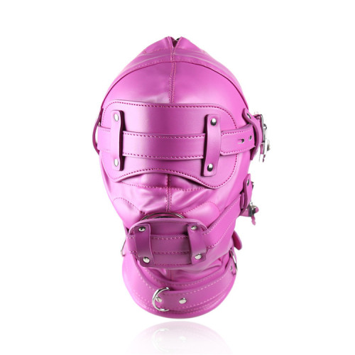 Pink Leather mask with penis