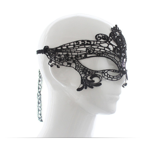 Black lace eye mask