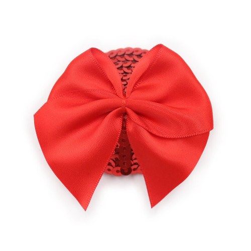 Red bow with red scales Anti-bare breast paste
