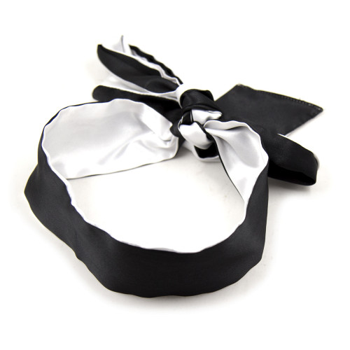 Black+White Blindfold mask