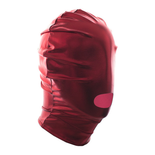 Red Slip-on patent leather hood