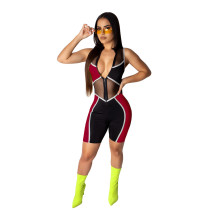 Red Fashion slim leggings women's overalls