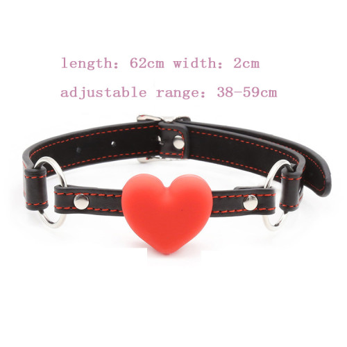 Heart shaped leather gag