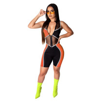 Orange Fashion slim leggings women's overalls