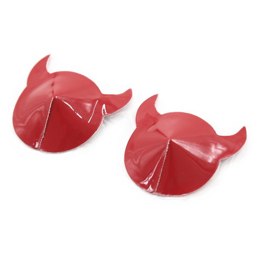 Red Round Silicone Horn Sticker