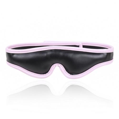 Pink Blindfolded Bondage Flirting Leather Mask