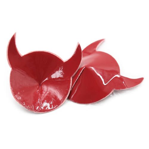 Red Round Silicone Horn Sticker
