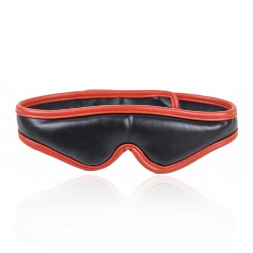 Red Blindfolded Bondage Flirting Leather Mask