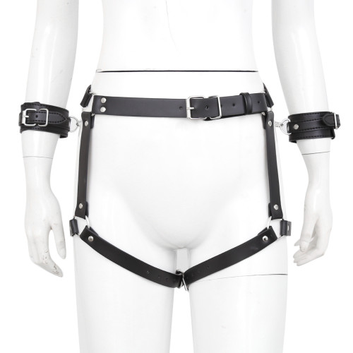 Handcuffed chastity pants