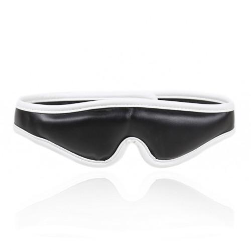 White Blindfolded Bondage Flirting Leather Mask