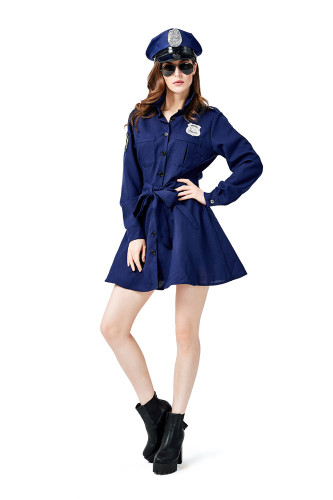 Police woman cosplay costume