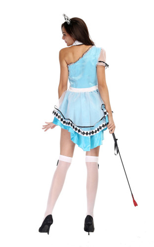 Blue Fantasy Wonderland Maid Outfit