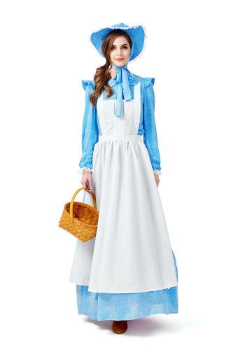 XL Maid Dress Blue