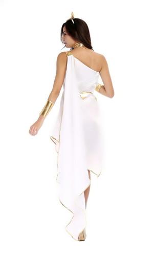 White Goddess Flowing Irregular Dress