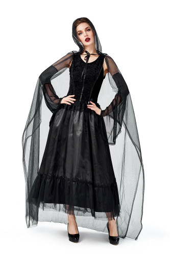 Cloak vampire dark witch cos costume costume