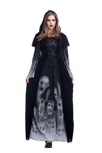 Scary skeleton vampire cosplay costume