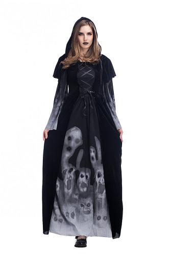 Scary skeleton vampire cosplay costume