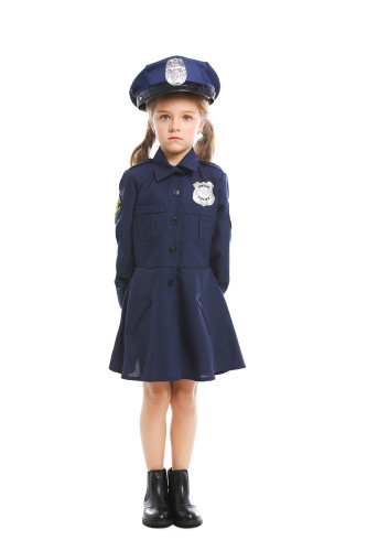 Girls' long sleeve police skirt