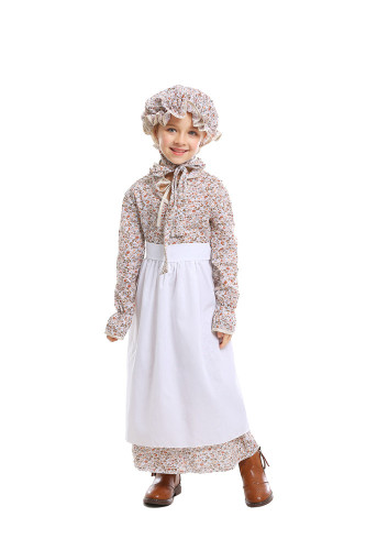 Children wolf grandma costume