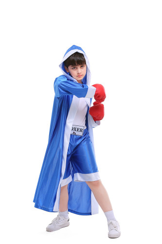 Bule Children's boxing match costume Excluding gloves