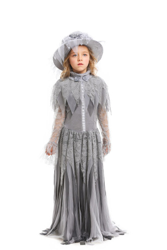 Children Ghost Princess Cosplay Skull Bride Costume