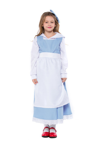 Blue and White Maid Costume