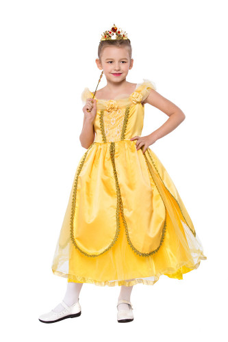 Yellow princess dress for children