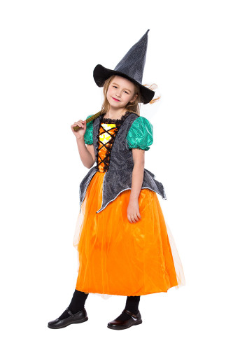 Little girl witch princess dress