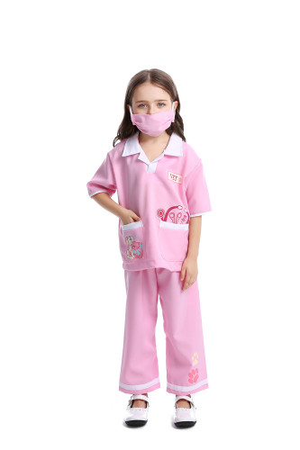 Pink Children's cosplay medic costumes