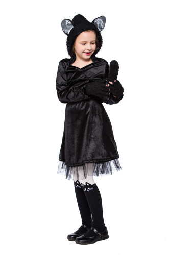 Black cat skirt performance clothing