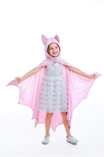 Pink cute cosplay children's bat suit