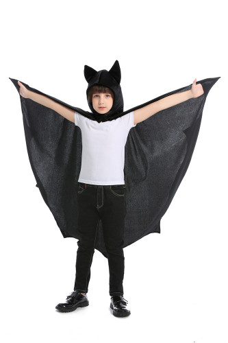 Black cute cosplay children's bat suit
