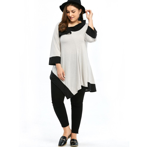 Irregular casual comfortable dating wide-sleeve top