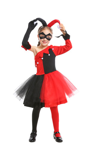 Girl cosplay funny clown Harry