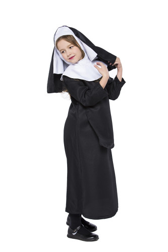 Child in black nun suit