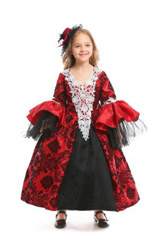 Vintage court dress skirt children's clothing