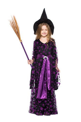 Children's purple witch costume