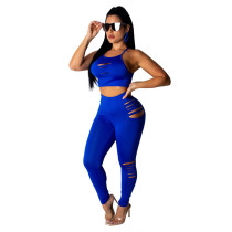 Bule Sports suit fashion casual two-piece suit