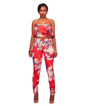 Red Digital printing European and American fashion style