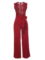 Red Sexy lace jumpsuit