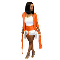 Orange Sexy casual two-piece suit