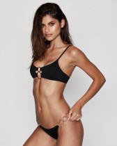 Black Minimal Ring Accessories Women's Swimsuit Bikini