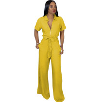 Yellow Sexy jumpsuit