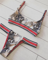 Snake pattern Banded Bikini