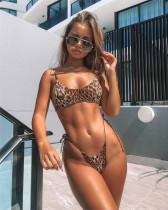 Leopard split bikini