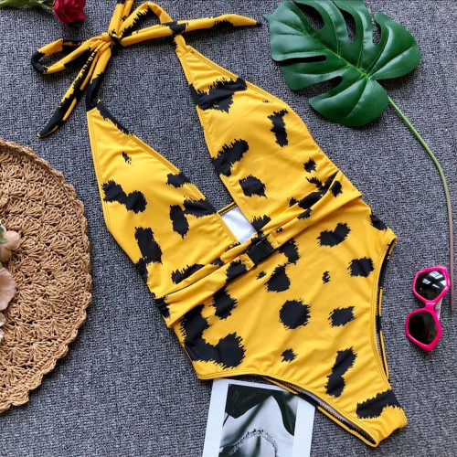 Leopard one-piece swimsuit