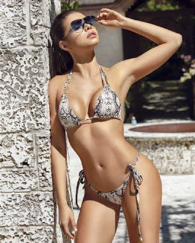 Split bandage swimsuit beach bikini