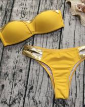 Yellow Gold-plated bikini