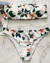 White Printed bikini